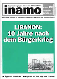 Inamo #20/1999: Libanon: 10 Jahre nach dem Bürgerkrieg