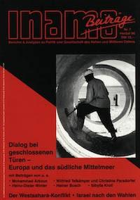Inamo #7/1996: Dialog bei geschlossenen Türen – Europa und das südliche Mittelmeer